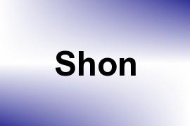 Shon name image