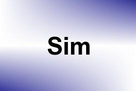 Sim name image