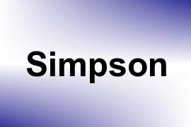 Simpson name image