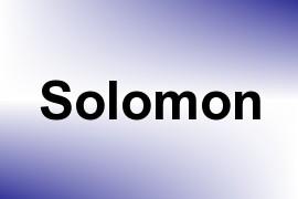 Solomon name image