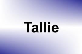 Tallie name image