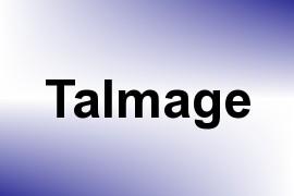 Talmage name image