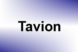 Tavion name image