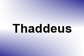 Thaddeus name image