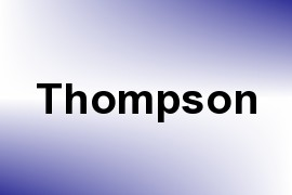 Thompson name image