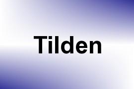 Tilden name image