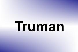 Truman name image