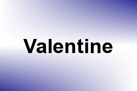 Valentine name image
