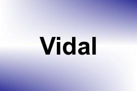 Vidal name image