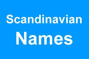 Scandinavian boy names