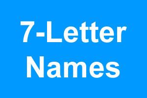 7 Letter Boy Names