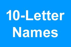 10 Letter Boy Names