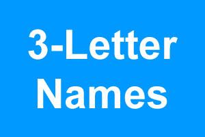 Baby Boy Names > 3 Letter Names