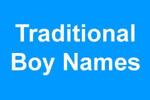 Traditional boy names